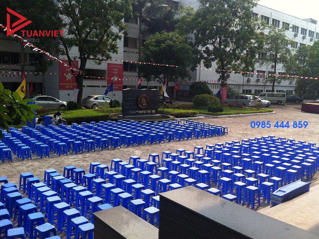 Cho thuê ghế nhựa giá rẻ nhất Hà Nội