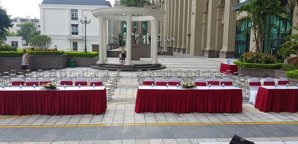 Hình ảnh 4. Bàn ghế do Tuấn Việt cung cấp để tổ chức Trung thu
