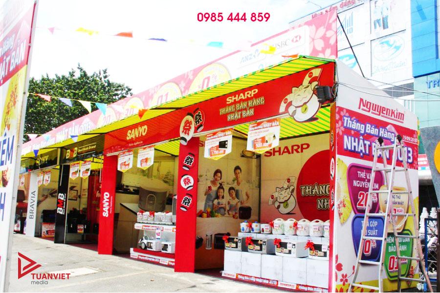 Gian hàng hội chợ điện máy Nguyễn Kim