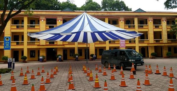 Tuấn Việt cho thuê thiết bị sự kiện nhà dù tại trường học