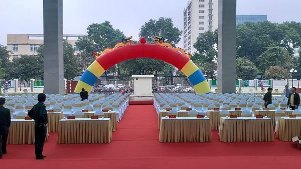Tuấn Việt cho thuê thiết bị sự kiện cổng hơi trong lễ khánh thành tòa nhà trung tâm của bệnh viện Quân y 103 - Học viện Quân y