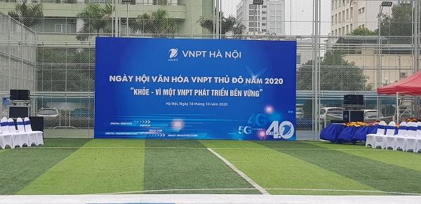 Tuấn Việt thiết kế backdrop cho VNPT Hà Nội