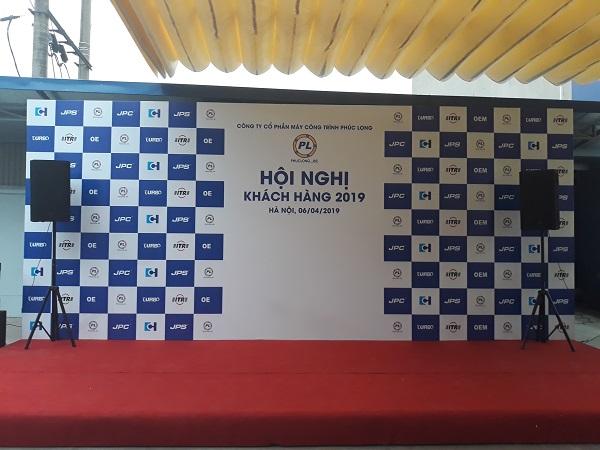 Tuấn Việt thiết kế backdrop cho Công ty Cổ phần Máy Công trình Phúc Long