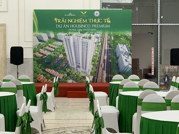 Tuấn Việt thiết kế backdrop cho dự án Housinco Premium