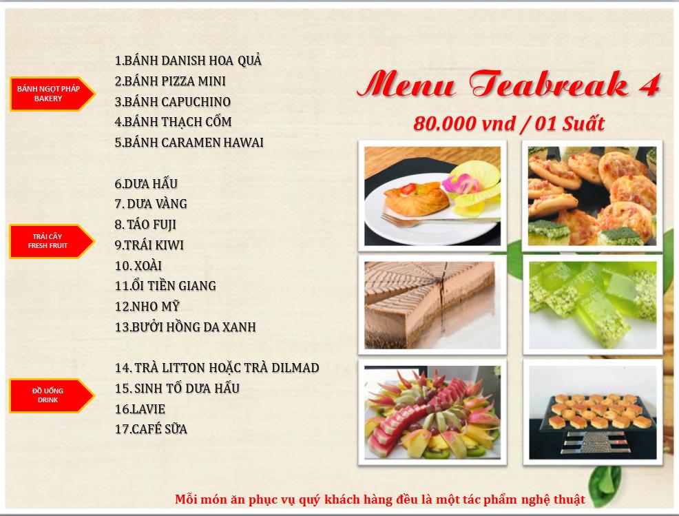Dịch vụ tiệc trà trọn gói chất lượng nhất Hà Nội